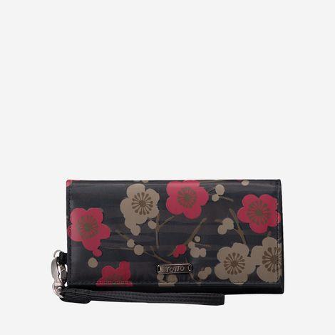 billetera-para-mujer-porta-celular-en-lona-flores-sahula-verde-Totto