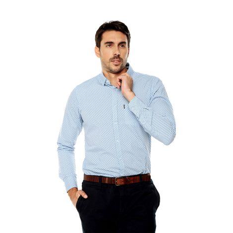 Camisa-para-Hombre-Cuello-Button-Down-Oculto-Slim-Fit-Porter-Ml-azul-kentucky-blue-target-mini-print