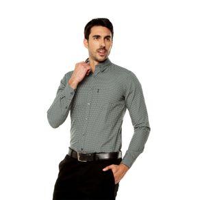 Camisa-para-Hombre-Cuello-Button-Down-Oculto-Slim-Fit-Porter-Ml-gris-castor-gray-target-mini-print