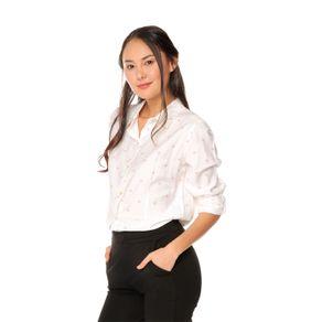 Camisa-para-Mujer-Manga-Larga-Ghalluv-blanco-gallup-zephyr-dots
