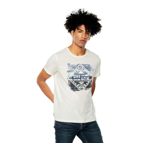 Camiseta-para-Hombre-Estampada-From-blanco-snow-white