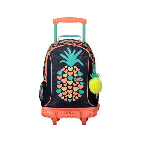 Morral-Grande-con-Ruedas-para-Niña-Bomper-Tropical-Fruit-azul-tropical-fruit